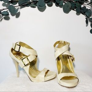 Michael Antonio Cream heels sz 7.5
